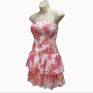 Lilly Pulitzer Elinor Dress, Small, Strapless Mini